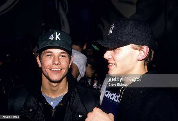Mark Wahlberg and Leonardo DiCaprio at Club USA New York March 1993