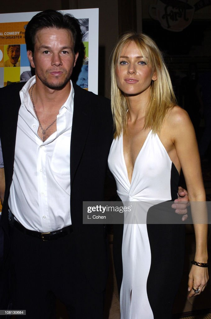 Mark Wahlberg and Naomi Watts during Details Magazine and GUESS? Host I Heart Huckabees Premiere - Red Carpet at The Grove in Los Angeles, California, United States.