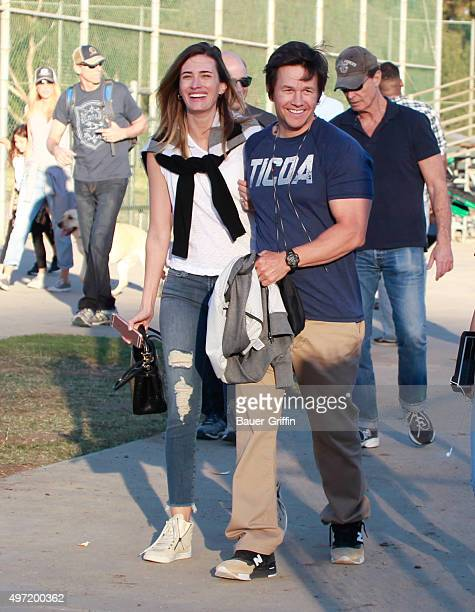 Mark Wahlberg and Rhea Durham are seen on November 14 2015 in Los Angeles California