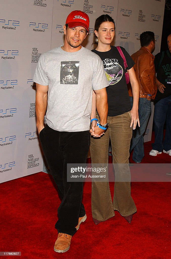Mark Wahlberg and Rhea Durham during Play Station 2 and Mark Wahlberg Host Celebrity Gaming Tournament for Charity Arrivals at Club Ivar in Hollywood...