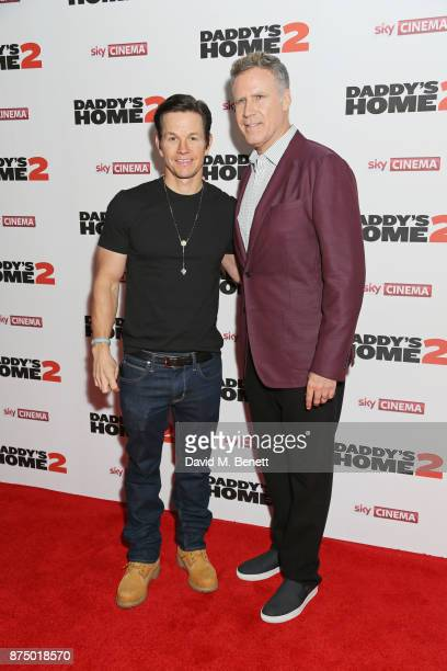 Mark Wahlberg and Will Ferrell attend the UK Premiere of 'Daddy's Home 2' at the Vue West End on November 16 2017 in London England
