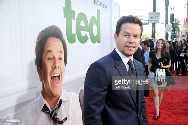 Mark Wahlberg arrives for the premiere of 'Ted' at Grauman's Chinese Theatre on June 21 2012 in Hollywood California