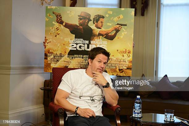 Mark Wahlberg attends a photocall for 2Guns at The Mandarin Oriental on August 5 2013 in London England