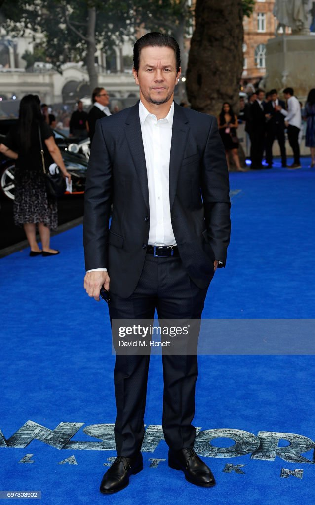 Mark Wahlberg attends the Global Premiere of 'Transformers: The Last Knight' at Cineworld Leicester Square on June 18, 2017 in London, England.