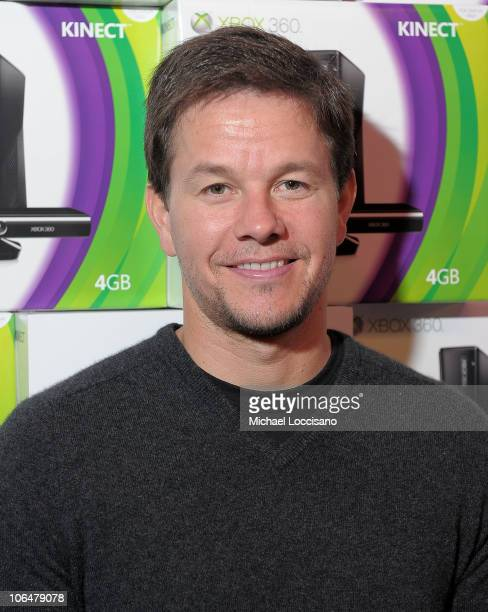 Mark Wahlberg attends the Kinect For Xbox 360 Launch with Boys Girls Club of America in Times Square on November 3 2010 in New York City
