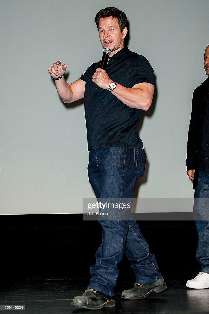 Mark Wahlberg attends the Philadelphia screening of the movie 'Broken City' at the Prince Music Theater January 8, 2013 in Philadelphia, Pennsylvania.