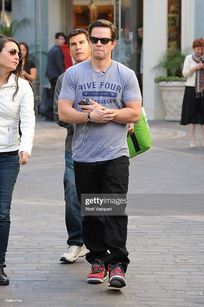 <a gi-track='captionPersonalityLinkClicked' href=/galleries/search?phrase=Mark+Wahlberg&family=editorial&specificpeople=202265 ng-click='$event.stopPropagation()'>Mark Wahlberg</a> is sighted at The Grove on January 17, 2013 in Los Angeles, California.