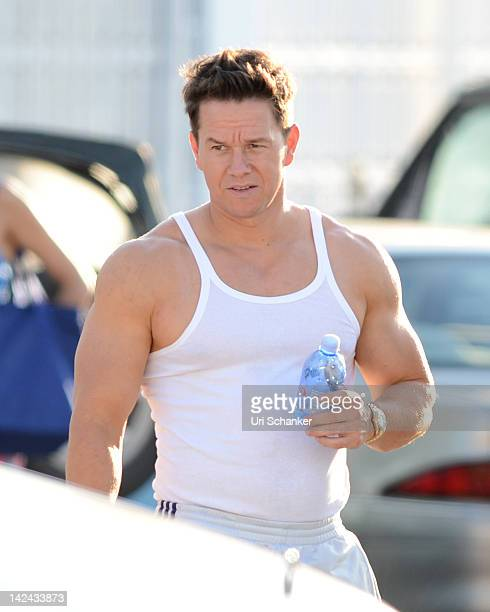 Mark Wahlberg is sighted on the set of 'Pain And Gain' on April 4 2012 in Miami Florida