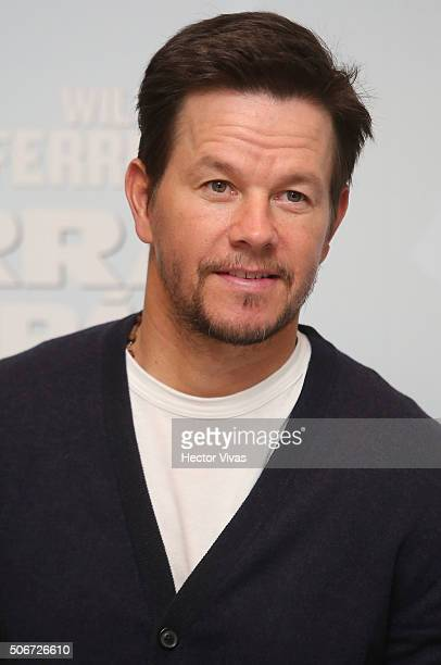 Mark Wahlberg looks on during the photocall of the movie 'Daddy's Home' at The St Regis Hotel on January 25 2016 in Mexico City Mexico