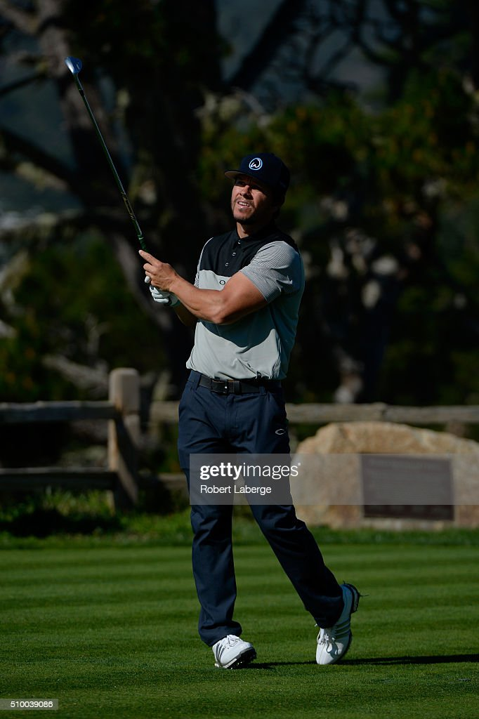 <a gi-track='captionPersonalityLinkClicked' href=/galleries/search?phrase=Mark+Wahlberg&family=editorial&specificpeople=202265 ng-click='$event.stopPropagation()'>Mark Wahlberg</a> plays his tee shot on the fifth hole during round three of the AT&T Pebble Beach National Pro-Am at the Pebble Beach Golf Links on February 13, 2016 in Pebble Beach, California.