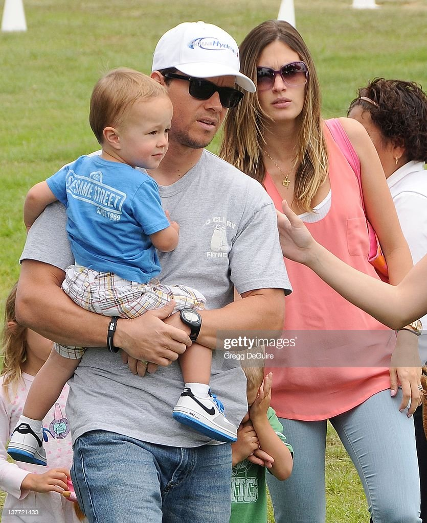Mark Wahlberg Rhea Durham and children arrive at the 21st Annual A Time For Heroes Celebrity Picnic sponsored by Disney to benefit The Elizabeth...
