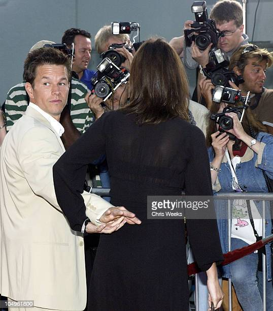 Mark Wahlberg Rhea Durham during 'The Italian Job' Premiere Red Carpet Arrivals at Mann's Chinese Theater in Hollywood California United States