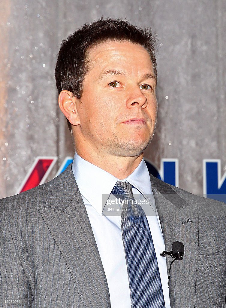 <a gi-track='captionPersonalityLinkClicked' href=/galleries/search?phrase=Mark+Wahlberg&family=editorial&specificpeople=202265 ng-click='$event.stopPropagation()'>Mark Wahlberg</a> speaks onstage while hosting a press conference to announce their newest venture, Water Brand AQUAhydrate on February 27, 2013 in Los Angeles, California.