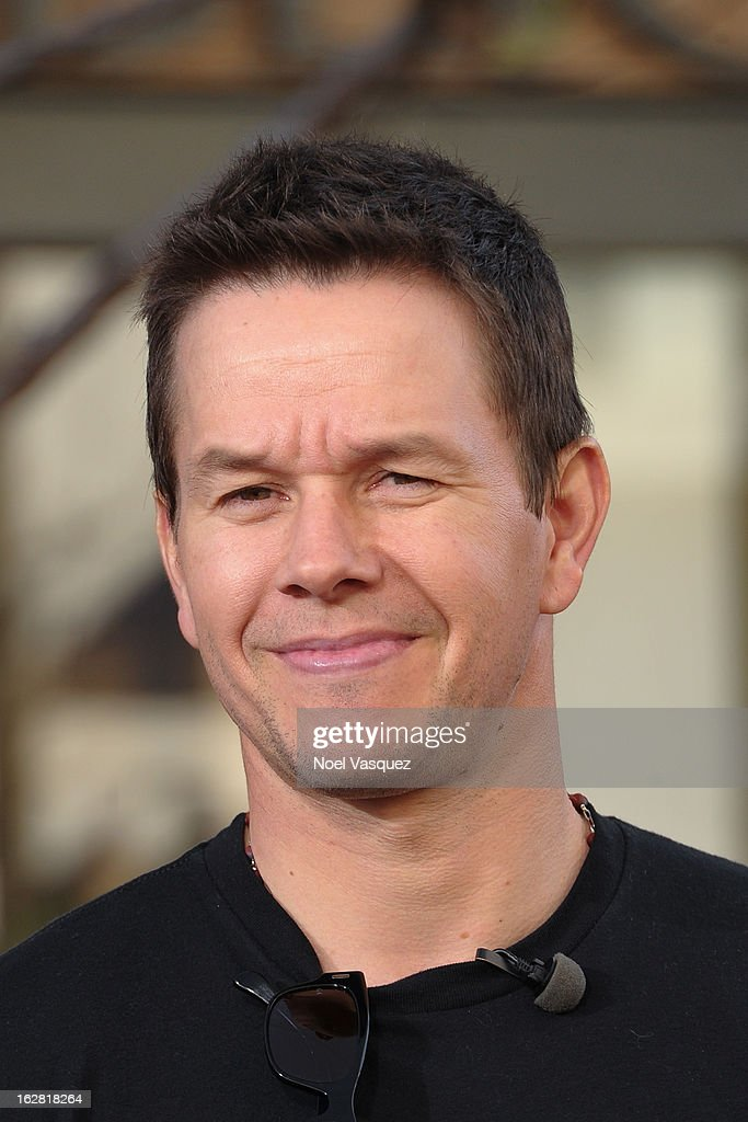 Mark Wahlberg visits Extra at The Grove on February 27, 2013 in Los Angeles, California.