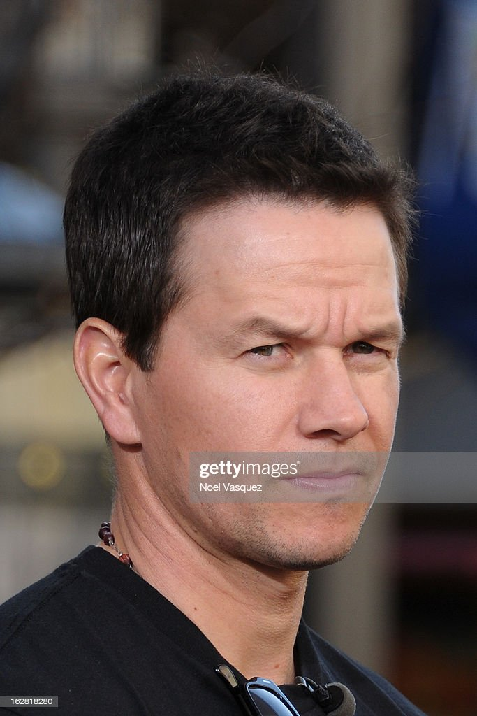 <a gi-track='captionPersonalityLinkClicked' href=/galleries/search?phrase=Mark+Wahlberg&family=editorial&specificpeople=202265 ng-click='$event.stopPropagation()'>Mark Wahlberg</a> visits Extra at The Grove on February 27, 2013 in Los Angeles, California.