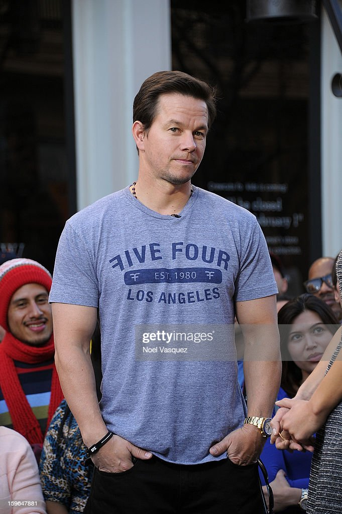 <a gi-track='captionPersonalityLinkClicked' href=/galleries/search?phrase=Mark+Wahlberg&family=editorial&specificpeople=202265 ng-click='$event.stopPropagation()'>Mark Wahlberg</a> visits Extra at The Grove on January 17, 2013 in Los Angeles, California.
