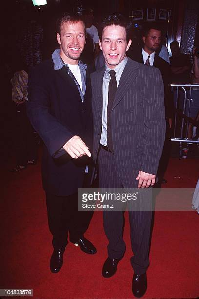 Mark Walhlberg Donnie Wahlberg during 'Boogie Nights' Los Angeles Premiere at Mann Chinese Theatre in Hollywood California United States