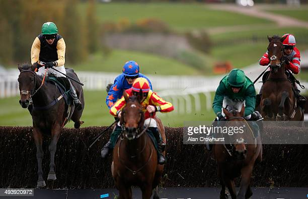 Mark Walsh riding Shantou Flyer clear the last to win The Ryman Stationary Cheltenham Business Club Novices' Steeple Chase at Cheltenham racecourse...
