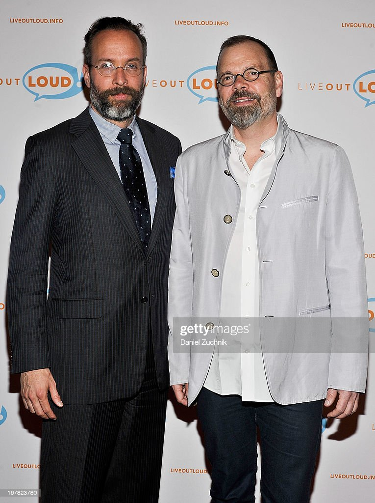 Mark Warren and David France attend the 12th Annual Live Out Loud Gala at The Times Center on April 30, 2013 in New York City.