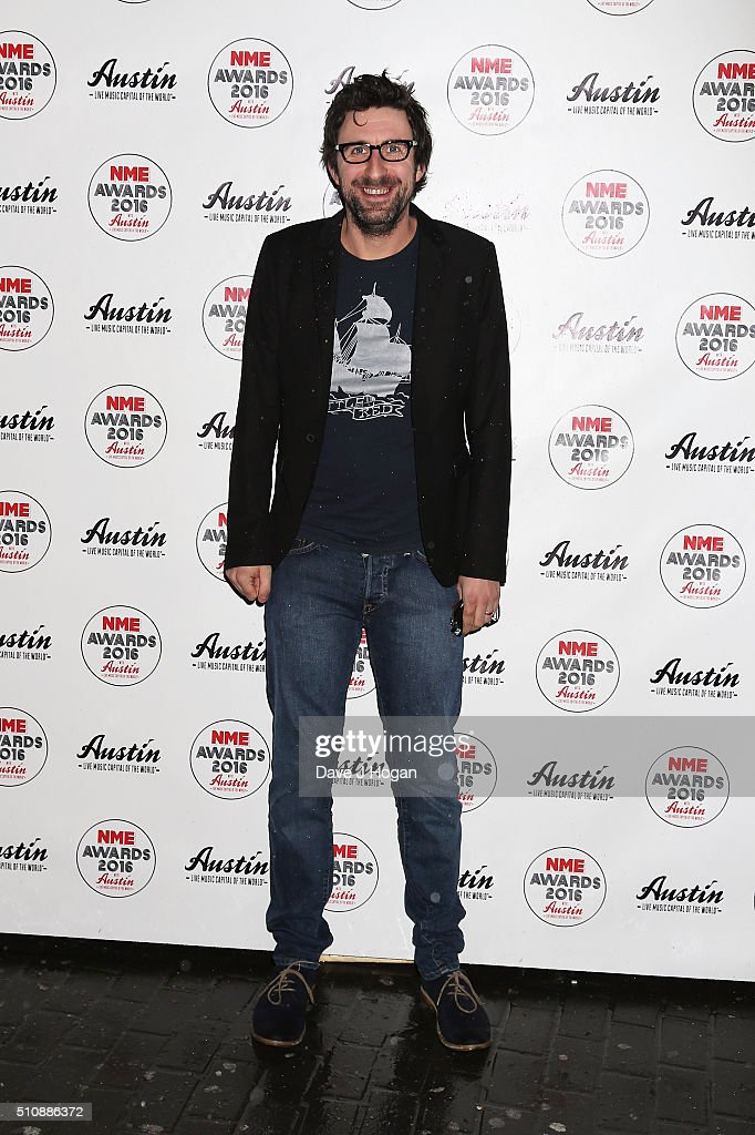 Mark Watson arrives for the NME awards at O2 Academy Brixton on February 17 2016 in London England