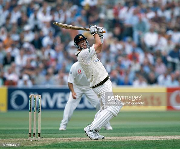Mark Waugh batting for Australia during the 1st Test match between England and Australia at Edgbaston Birmingham 6th July 2001