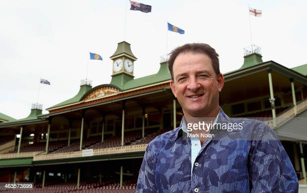 Mark Waugh poses for photos during the 2014 Australian Cricket Hall of Fame Announcement at Sydney Cricket Ground on January 19 2014 in Sydney...