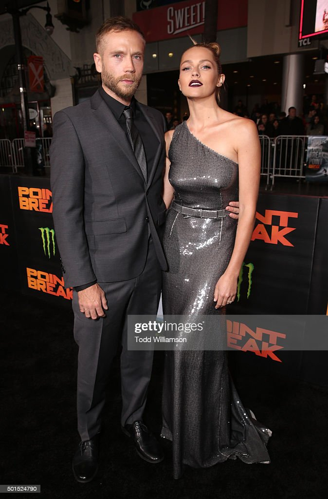 Mark Webber and Teresa Palmer attend the premiere of Warner Bros. Pictures and Alcon Entertainment's 'Point Break' at TCL Chinese Theatre on December 15, 2015 in Hollywood, California.