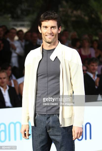 Mark Webber models at the Grand Prix and Fashion Unite at The Amber Lounge Le Meridien Beach Plaza Hotel Monaco
