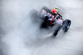 Mark Webber of Australia and Infiniti Red Bull Racing drives during qualifying for the Brazilian Formula One Grand Prix at Autodromo Jose Carlos Pace...