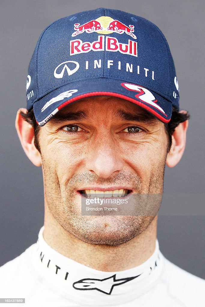 <a gi-track='captionPersonalityLinkClicked' href=/galleries/search?phrase=Mark+Webber+-+Race+Car+Driver&family=editorial&specificpeople=167271 ng-click='$event.stopPropagation()'>Mark Webber</a> of Australia and Infiniti Red Bull Racing poses during the Top Gear Festival at Sydney Motorsport Park on March 10, 2013 in Sydney, Australia.