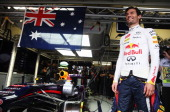 Mark Webber of Australia and Infiniti Red Bull Racing prepares to drive in his final F1 race before the Brazilian Formula One Grand Prix at Autodromo...