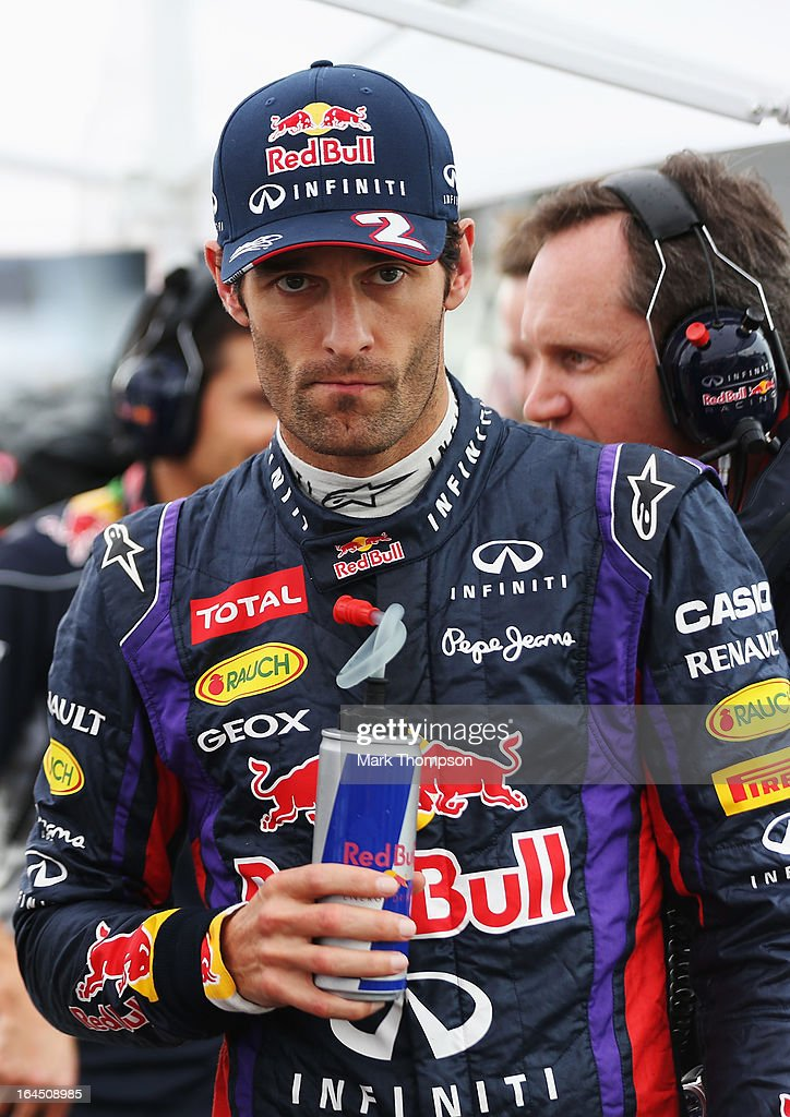 Mark Webber of Australia and Infiniti Red Bull Racing prepares to drive during the Malaysian Formula One Grand Prix at the Sepang Circuit on March 24, 2013 in Kuala Lumpur, Malaysia.