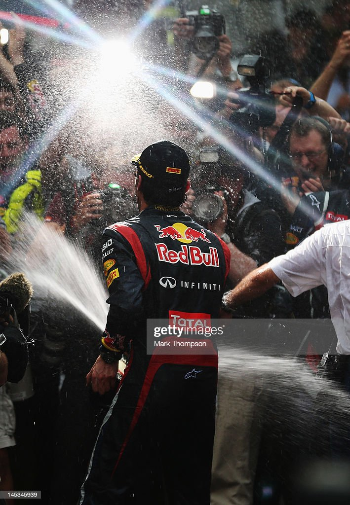 <a gi-track='captionPersonalityLinkClicked' href=/galleries/search?phrase=Mark+Webber+-+Race+Car+Driver&family=editorial&specificpeople=167271 ng-click='$event.stopPropagation()'>Mark Webber</a> of Australia and Red Bull Racing celebrates winning the Monaco Formula One Grand Prix at the Circuit de Monaco on May 27, 2012 in Monte Carlo, Monaco.