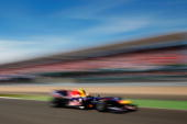 Mark Webber of Australia and Red Bull Racing drives during the British Formula One Grand Prix at Silverstone on June 11 in Northampton England