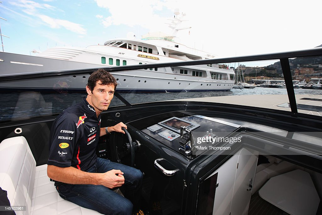 <a gi-track='captionPersonalityLinkClicked' href=/galleries/search?phrase=Mark+Webber+-+Piloto+de+coches+de+carreras&family=editorial&specificpeople=167271 ng-click='$event.stopPropagation()'>Mark Webber</a> of Australia and Red Bull Racing is seen during previews to the Monaco Formula One Grand Prix at the Monte Carlo Circuit on May 23, 2012 in Monte Carlo, Monaco.