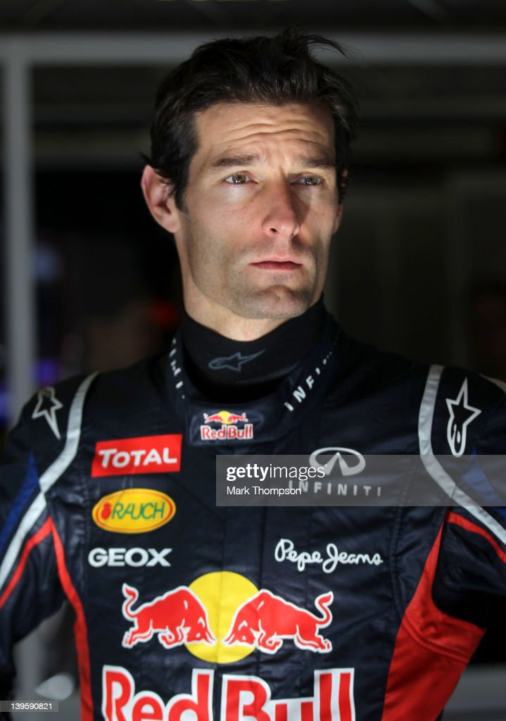 <a gi-track='captionPersonalityLinkClicked' href=/galleries/search?phrase=Mark+Webber+-+Piloto+de+automobilismo&family=editorial&specificpeople=167271 ng-click='$event.stopPropagation()'>Mark Webber</a> of Australia and Red Bull Racing prepares to drive during day three of Formula One winter testing at Circuit de Catalunya on February 23, 2012 in Barcelona, Spain.