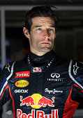 Mark Webber of Australia and Red Bull Racing prepares to drive during day three of Formula One winter testing at Circuit de Catalunya on February 23...