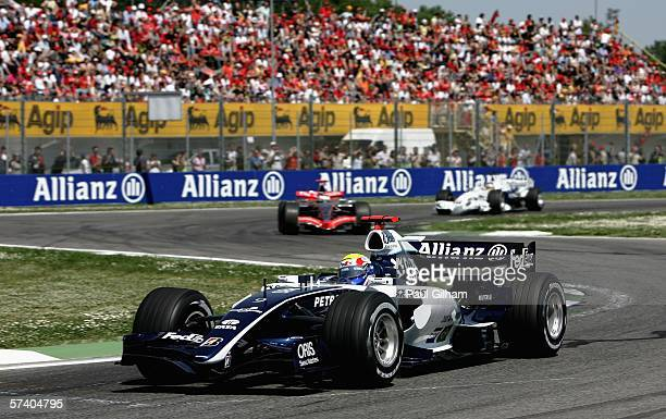 Mark Webber of Australia and Williams in action during the San Marino Formula One Grand Prix at the San Marino Circuit on April 23 in Imola Italy