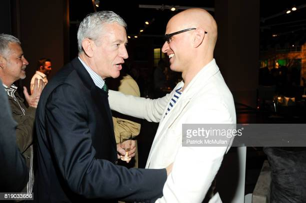Mark Welsh and David Stark attend DAVID STARK and West Elm preview party for The Flower Shoppe and celebration of his new book DAVID STARK DESIGN at...