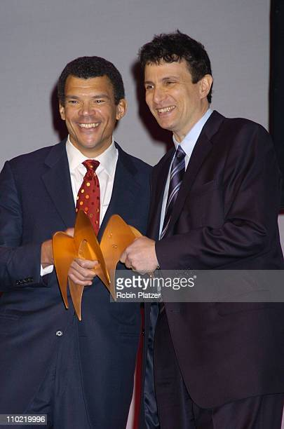 Mark Whitaker and David Remnick during The 2005 National Magazine Awards at The Waldorf Astoria Hotel in New York City New York United States