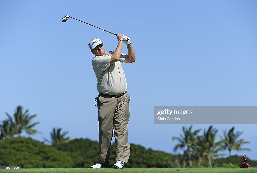 KA'UPULEHU-KONA, HI - JANUARY 19: Mark Wiebe plays from the second tee during the second round of the Mitsubishi Electric Championship at Hualalai Golf Club on January 19, 2013 in Ka'upulehu-Kona, Hawaii.