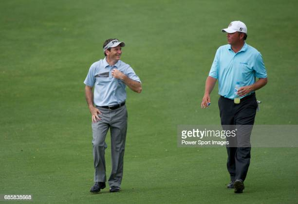 Mark Wilson and Bo Van Pelt on the seventeenth fairway during Round 3 of the CIMB Asia Pacific Classic 2011 at the MINES resort and golf club on 29...