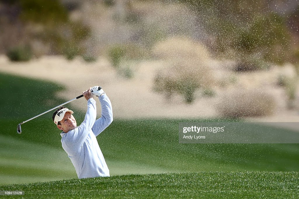 Mark Wilson hits from a bunker on the second hole during the second round of the Accenture Match Play Championship at the Ritz-Carlton Golf Club on February 24, 2011 in Marana, Arizona.
