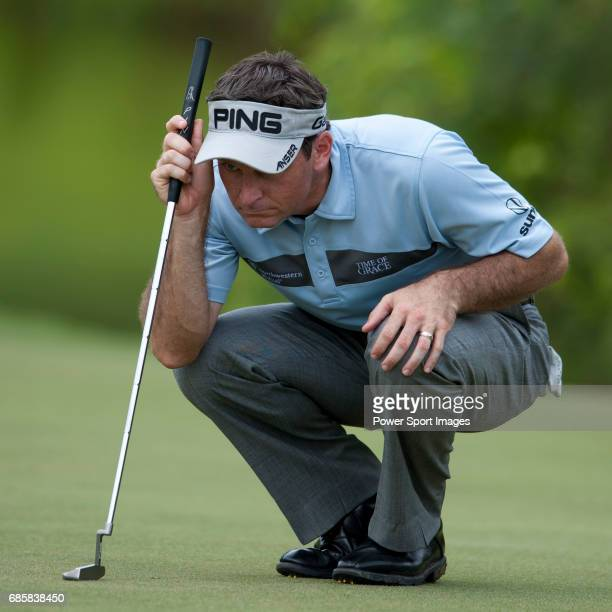 Mark Wilson in action on the thirteenth green during the CIMB Asia Pacific Classic 2011 at the MINES resort and golf club on 29 October 2011 near...