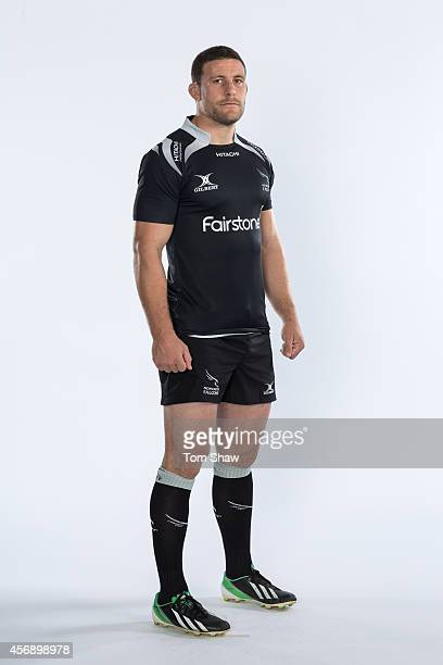 Mark Wilson of Newcastle Falcons poses for a picture during the BT photo shoot at Kingston Park on August 20 2014 in Newcastle upon Tyne England