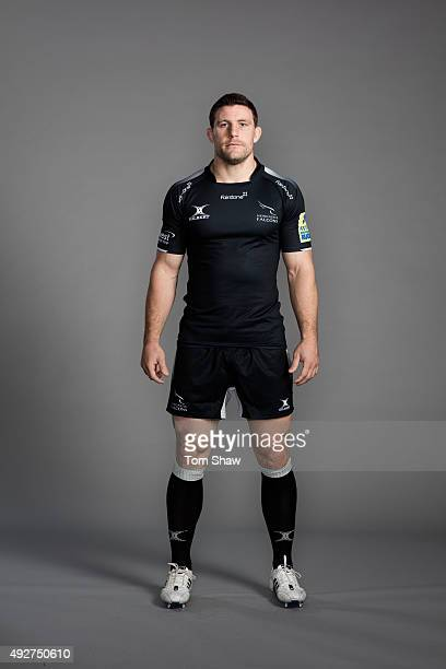 Mark Wilson of Newcastle Falcons poses for a picture during the Newcastle Falcons Photocall for BT at Kingston Park on September 17 2015 in Newcastle...