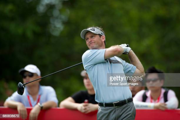 Mark Wilson tees off at the seventeenth during Round 3 of the CIMB Asia Pacific Classic 2011 at the MINES resort and golf club on 29 October 2011...