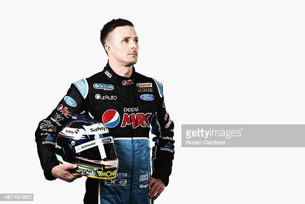 Mark Winterbottom driver of the Pepsi Max Crew Ford poses during the 2015 V8 Supercars Enduro pairing portrait session at Sandown International Motor...