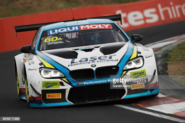 Mark Winterbottom drives the BMW Team SRM BMW M6 GT3 during the 2017 Bathurst 12 hour race at Mount Panorama on February 5 2017 in Bathurst Australia