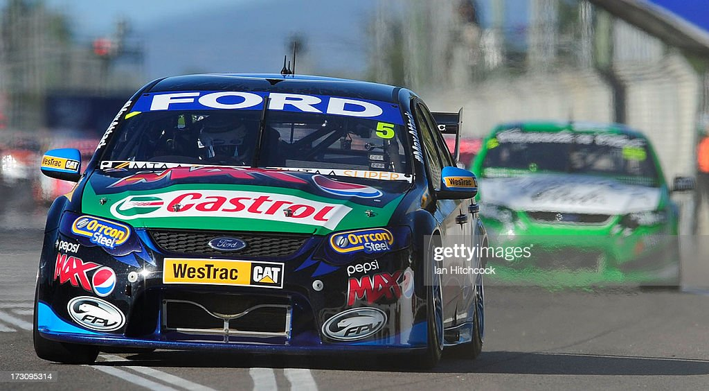Mark Winterbottom drives the #5 Ford's Pepsi Max Crew Ford during race 21 of the Townsville 400, which is round seven of the V8 Supercar Championship Series at Reid Park on July 7, 2013 in Townsville, Australia.